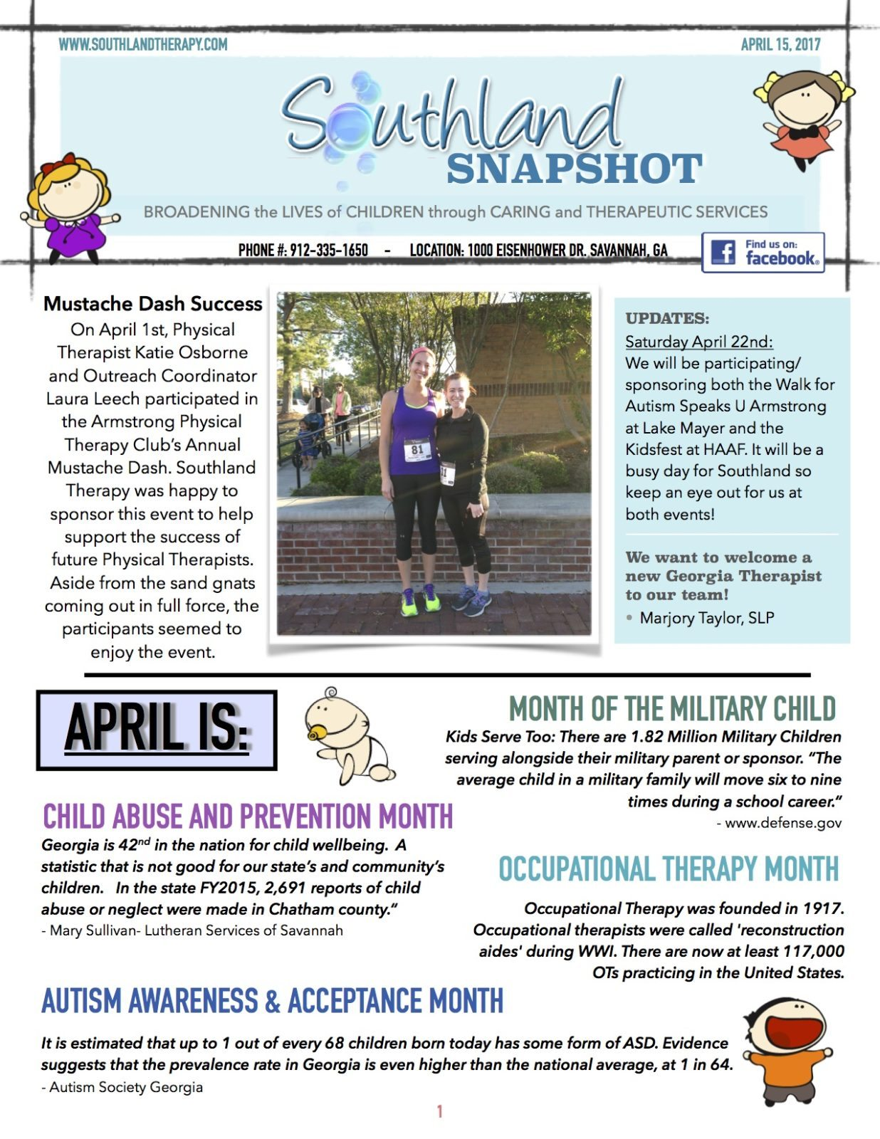 Page 1 of APril Snapshot