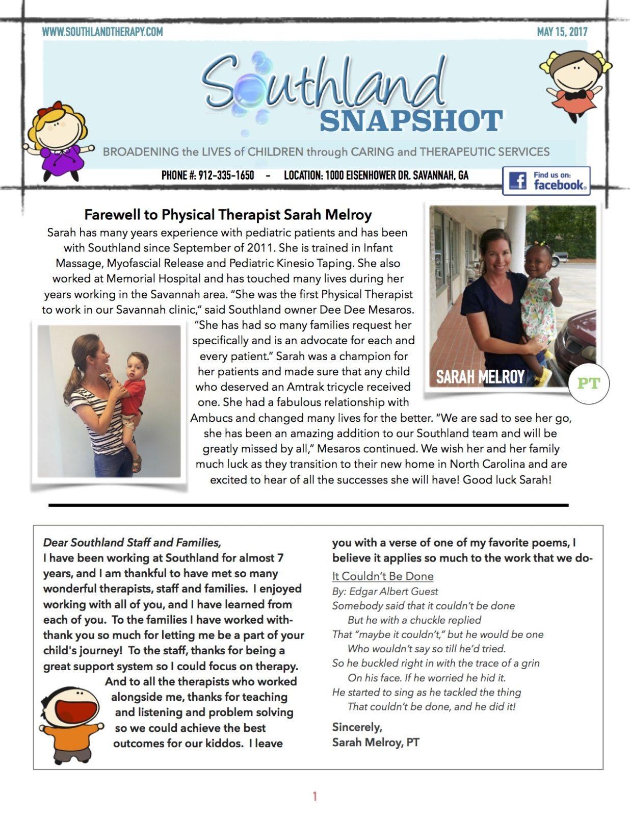 Page 1 of May Snapshot