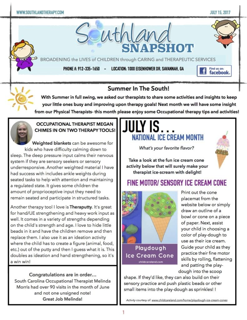 Page 1 of July Snapshot