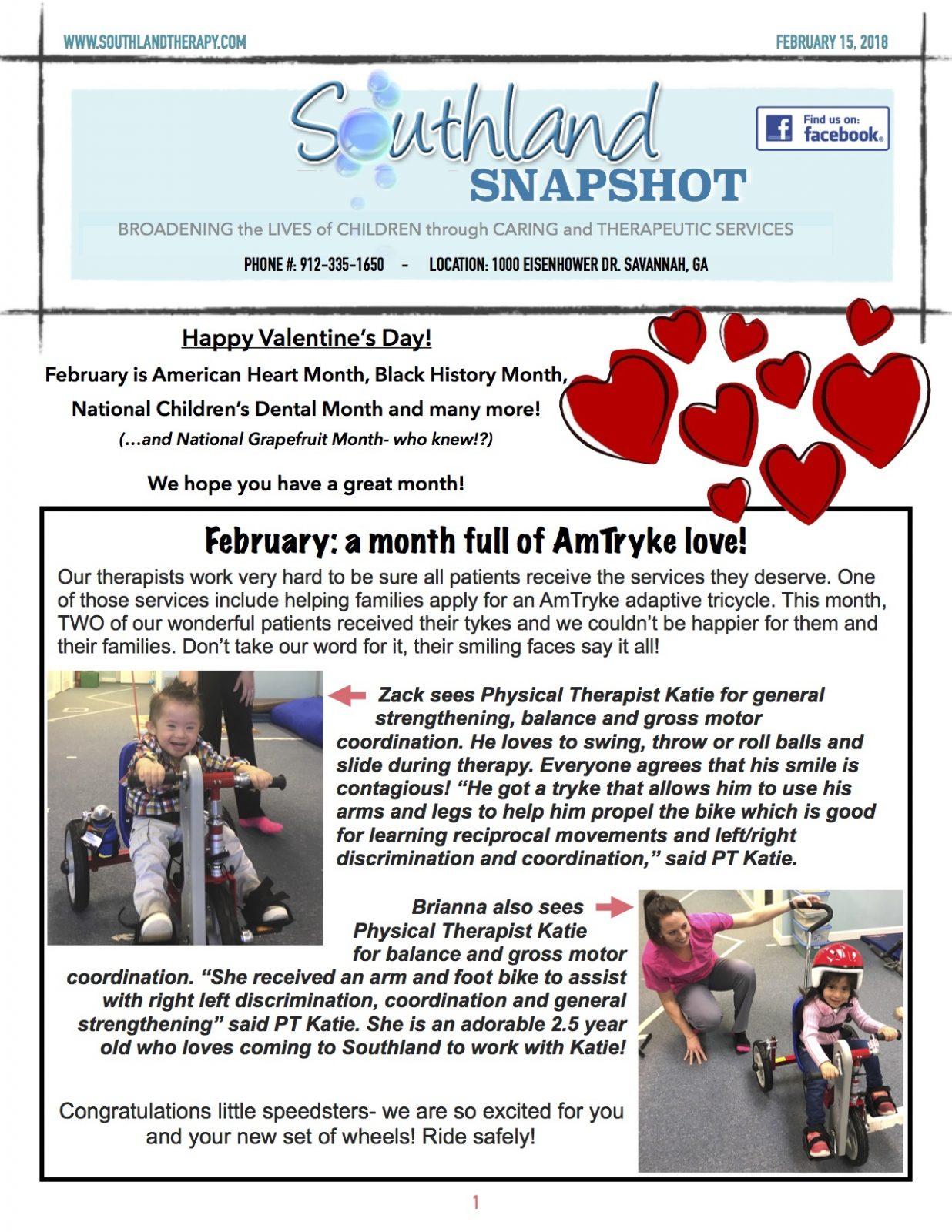 Southland Snapshot February Newsletter Happy Valentine S Day